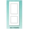 ประตู ทนน้ำ SM-02 รองพื้น ตราเฮ้าส์ แบบ 2 ช่องตรง ราคาถูก