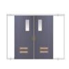 ประตูเหล็ก DoorTech บานสไลด์ บานคู่ ED-01 Hair Line Two Tone DTSL-80 ราคาถูก