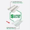Super Save Translucent Romantile Sheet Transparent 0.5 mm 0.50x1.20 m cheap price