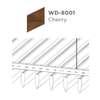 ฝ้าอลูมิเนียม ลายเส้น Linea Streamline ลายไม้ WD-8001 Cherry Wood ราคาถูก
