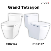 [TH Free Delivery] COTTO One Piece Toilet Grand Tetragon cheap price