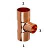 K Copper สามทาง ลด 4 1/8x4 1/8 2 1/8 นิ้ว ราคาถูก
