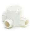 กล่องพักสายไฟ กลม ลึก 3 ทางที สีขาว BS พีวีซี เอสซีจี ราคาถูก