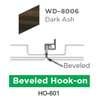 ฝ้าสแตนเลส Hook On ลายไม้ WD-8006 Dark Ash ราคาถูก