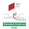 ฝ้าเหล็ก กัลวาไนซ์ Hook On สี 3117 Red ราคาถูก