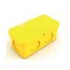กล่องพักสายไฟ สี่เหลี่ยม 4x2 สีเหลือง พีวีซี อริยะ ราคาถูก
