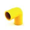 ข้องอ 90 ร้อยสายไฟ สีเหลือง พีวีซี อริยะ ราคาถูก