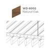 ฝ้าอลูมิเนียม ลายเส้น Linea Streamline ลายไม้ WD-8002 Natural Oak ราคาถูก
