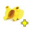 กล่องพักสายไฟ กลม 4 ทาง สีเหลือง พีวีซี อริยะ ราคาถูก