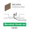 ฝ้าสแตนเลส Hook On ลายไม้ WD-8014 California Nut ราคาถูก