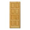 ประตูไม้จริง สยาแดง Unix S-8S ราคาถูก
