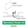 ฝ้าสแตนเลส Hook On สี 050 Flat White ราคาถูก