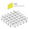 ฝ้าตะแกรงอลูมิเนียม ช่องเปิด Space Cubes สี 2122 Yellow Lemon ราคาถูก