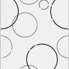 Floor Tile Europa Circle White Glossy 8x10 inches A Grade cheap price
