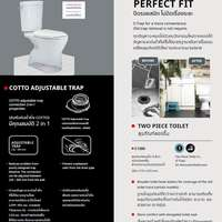[TH Free Delivery] COTTO C1380 Perfect Fit 2 piece toilet cheap price